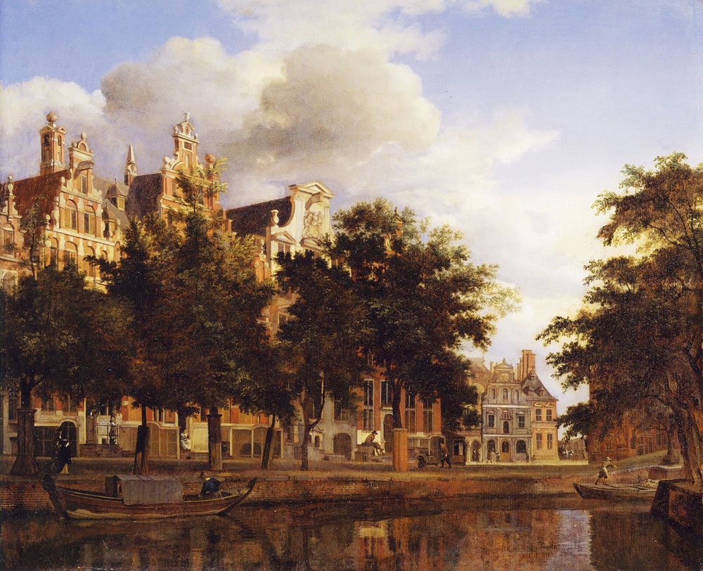 Jan van der Heyden - Houses on the Herengracht, Amsterdam