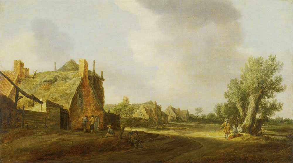 Jan van Goyen - Street in a Village