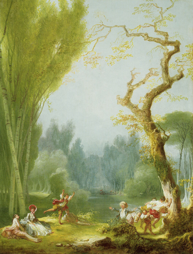 Jean-Honoré Fragonard - A Game of Horse and Rider