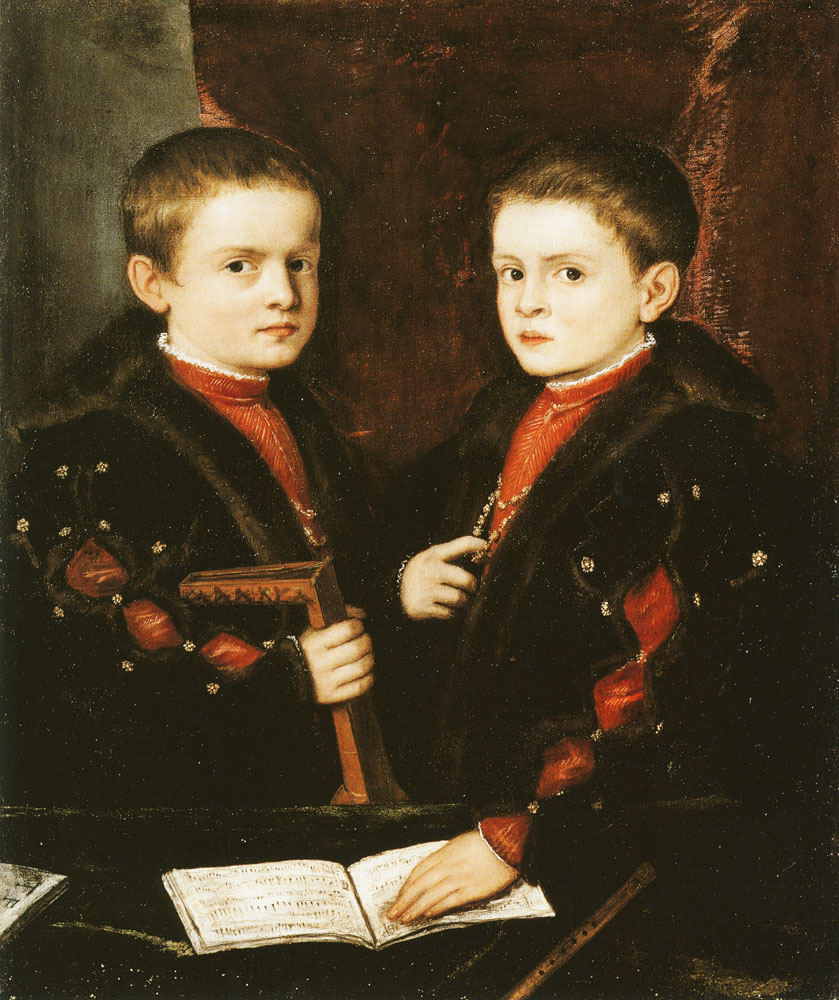 Titian and workshop - Two Boys of the Pesaro Family