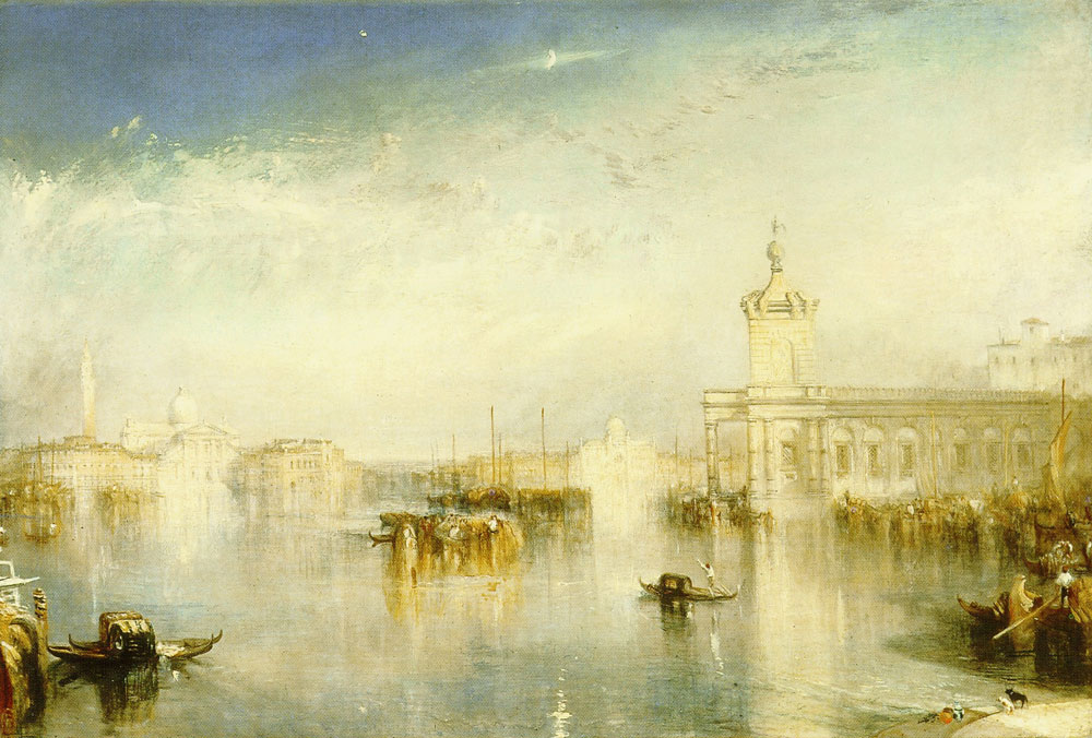 J.M.W. Turner - View of the Dogana and the Church of San Giorgio in Venice