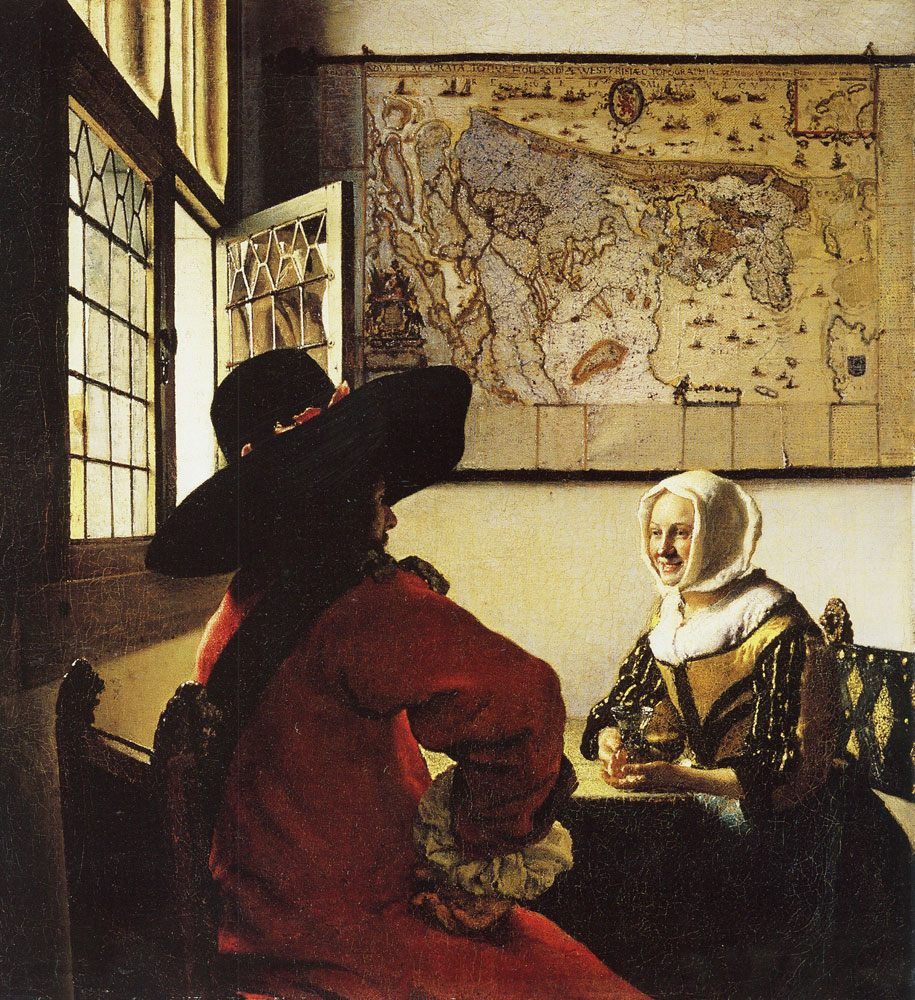 Johannes Vermeer - Cavalier and Young Woman