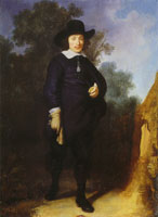 Govert Flinck Portrait of Dirck Jacobsz. Leeuw