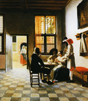 Pieter de Hooch Card Players