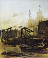 Adam Pijnacker A Harbor in Schiedam