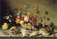 Balthasar van der Ast Still life of flowers, shells, and insects