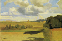 Camille Corot The Roman Campagna with the Claudian Aquaduct