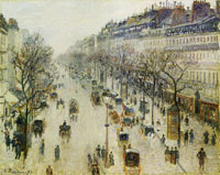 Camille Pissarro The Boulevard Montmartre on a Winter Morning