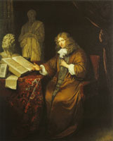 Caspar Netscher Portrait of the collector Abraham van Lennep