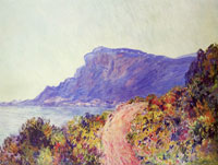 Claude Monet Coastal road at Cap Martin, near Menton