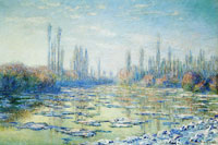 Claude Monet Floating ice
