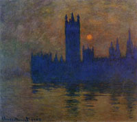 Claude Monet Houses of Parliament, London, sunset