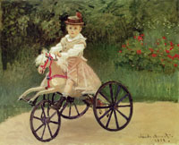 Claude Monet Jean Monet on His Horse-Tricycle