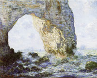 Claude Monet Rock arch west of Etretat (The manneporte)
