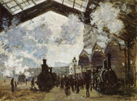 Claude Monet Saint-Lazare Station