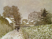 Claude Monet Snow at Argenteuil