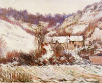 Claude Monet Snow at Giverny