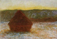 Claude Monet Wheatstack (Thaw, sunset)