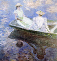 Claude Monet Young women in a boat