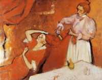 Edgar Degas Combing the hair