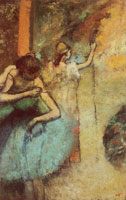 Edgar Degas Dancer adjusting the strap of her bodice
