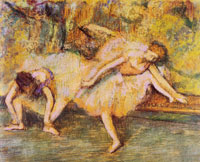 Edgar Degas Two dancers on a bench