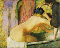 Edgar Degas Woman at het bath