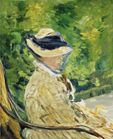 Edouard Manet Madame Manet at Bellevue