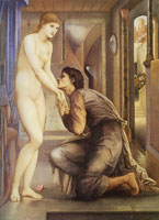 Edward Burne-Jones Pygmalion and the image - The soul attains