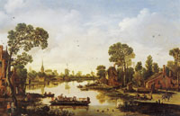 Esaias van de Velde Cattle Ferry