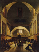 François-Marius Granet The Choir of the Capuchin Church in Rome