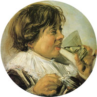 Frans Hals Boy drinking wine