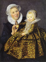 Frans Hals Portrait of Catharina Hooft and her Nurse