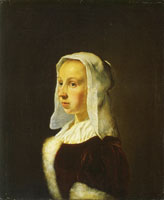 Frans van Mieris the Elder Portrait of Cunera van der Cock, the painter's wife