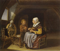 Frans van Mieris the Elder Saying grace