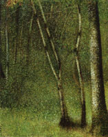 Georges Seurat The Forest at Pontaubert