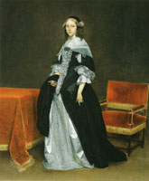 Gerard ter Borch Portrait of a young woman