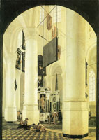 Gerard Houckgeest The Nieuwe Kerk in Delft, with the tomb of William the Silent