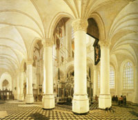 Gerard Houckgeest The ambulatory of the Nieuwe Kerk, Delft, with the tomb of William the Silent
