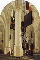 Gerard Houckgeest The Nieuwe Kerk in Delft with the tomb of William the Silent