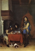 Gerard ter Borch Officer dictating a letter while a trumpeter waits
