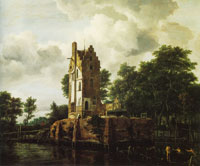 Jacob van Ruisdael Reconstruction of the Ruins of the Manor Kostverloren