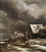 Jacob van Ruisdael Village in Winter