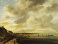 Jacob van Ruisdael Beachscape with Dunes