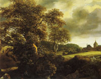 Jacob van Ruisdael Hilly Landscape