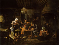 Jan Steen The Lean Kitchen