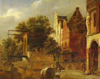 Jan van der Heyden The Drawbridge