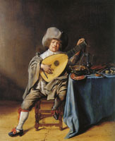 Jan Miense Molenaer - Self-portrait as a lute player