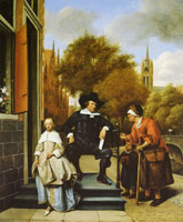 Jan Steen Adolf and Catharina Croeser on the Oude Delft