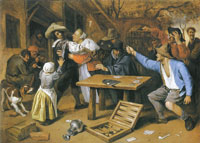 Jan Steen Card Players' Brawl